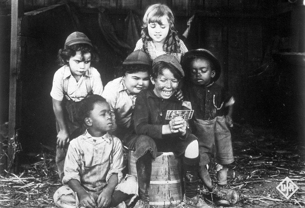 """A promotional portrait of the child cast of the Hal Roach 'Our Gang' film series aka """"The Little Rascals"""" on January 01, 1923 