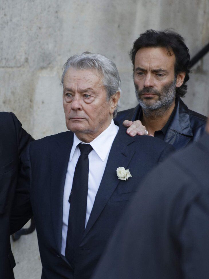 Alain Delon et son fils Anthony Delon. | Photo : Getty Images