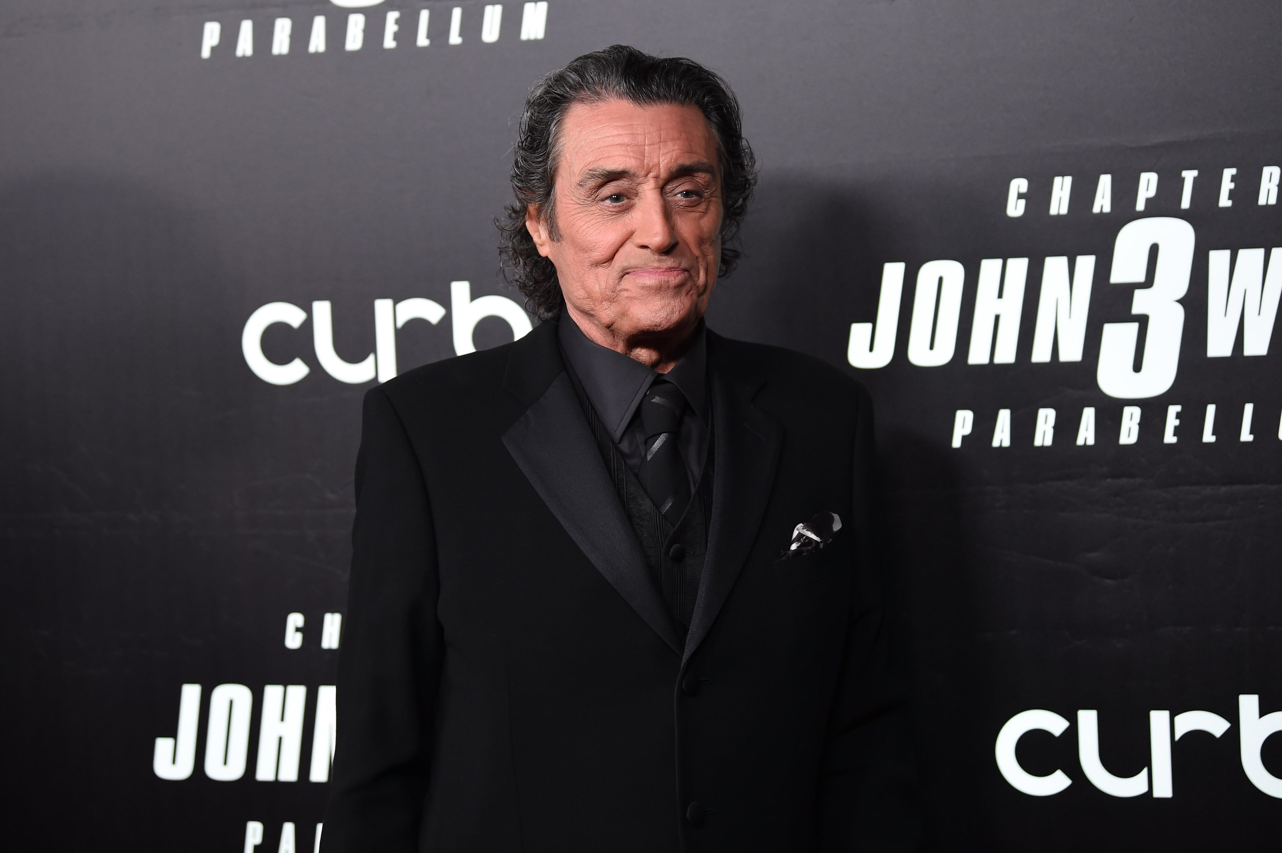 """Ian McShane attends the premiere of """"John Wick: Chapter 3"""" in New York City on May 9, 2019 