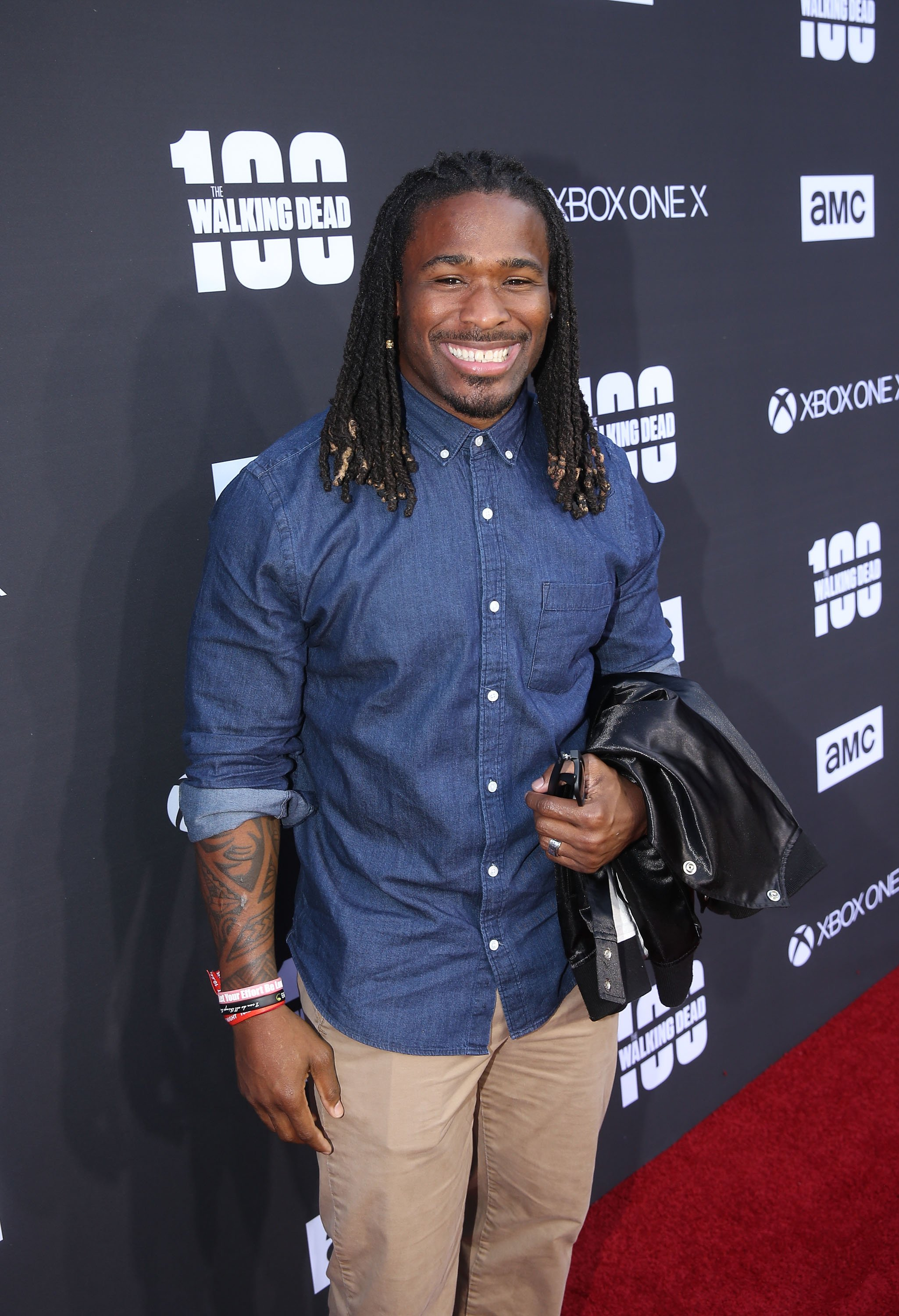 DeAngelo Williams at The Walking Dead 100th Episode Premiere in 2017. | Source: Getty Images