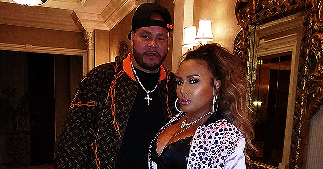Fat Joe's Wife of 24 Years Lorena Cartagena Stuns in Skimpy Outfit and Black Netted Boots in a Seductive Photo