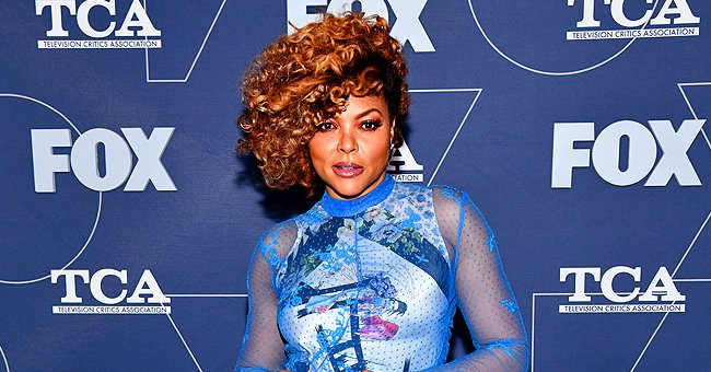 Taraji P Henson from 'Empire' Stuns with Her Brown Curls in Sheer Blue Dress at the 2020 Fox Winter TCA All-Star Party