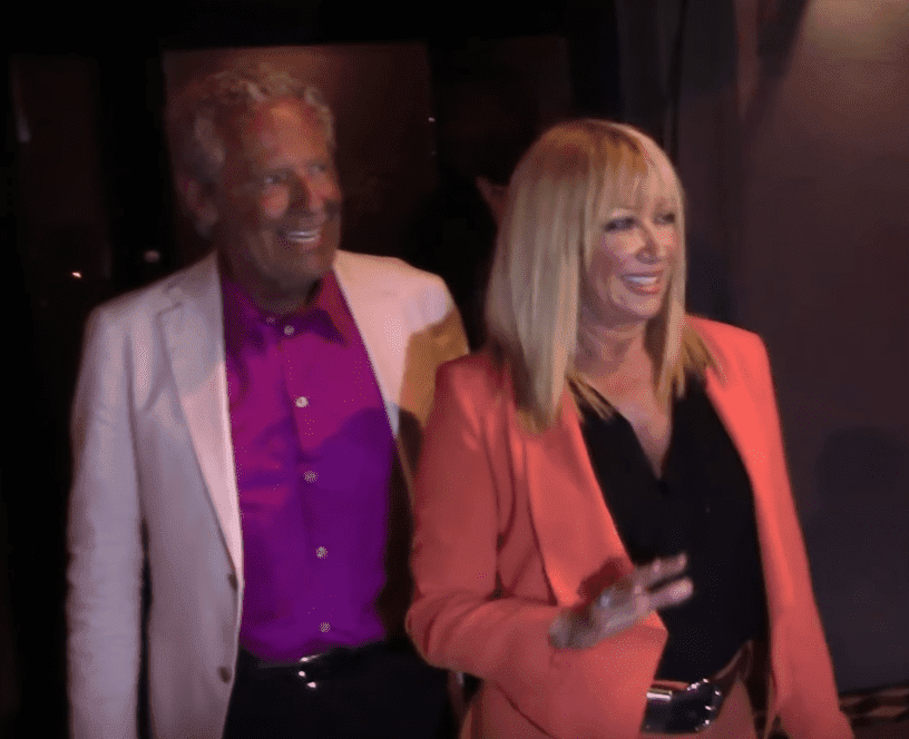 Suzanne Somers and Alan Hamal. | Source: YouTube/ X17 Online