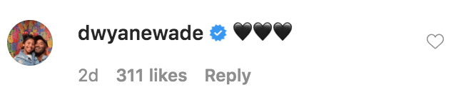 Dwyane Wade commented on photos of himself and Gabrielle Union posing for selfies in a mirror   Source: insatgram.com/gabunion
