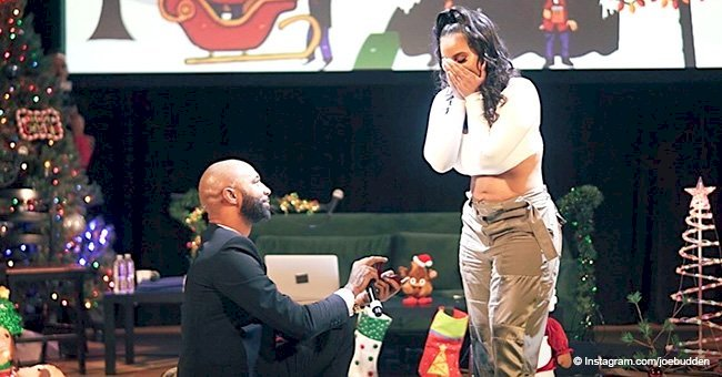 Joe Budden proposes to Cyn Santana in front of an audience
