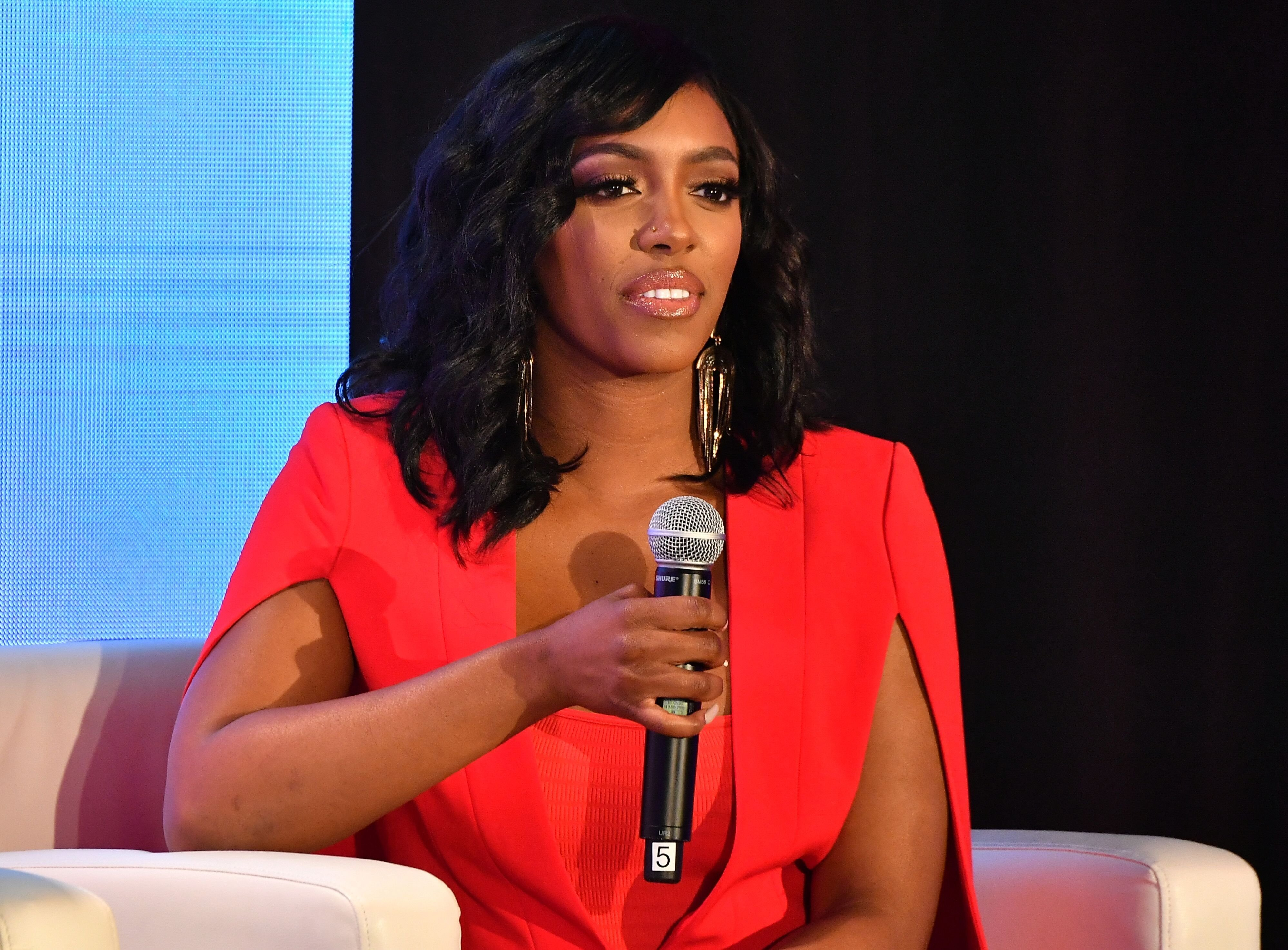 "Porsha Williams of ""Real Housewives of Atlanta"" attends a speaking engagement 