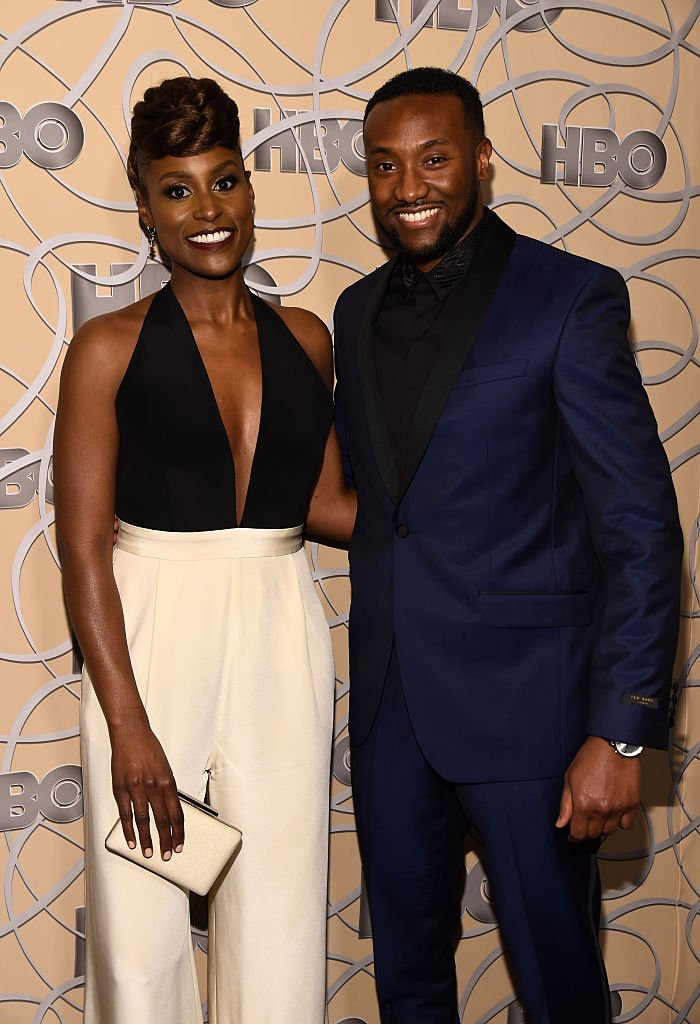 Isaa Rae and Louis Diame arrive at HBO's Official Golden Globe Awards After Party at Circa 55 Restaurant on January 8, 2017. | Photo: Getty Images