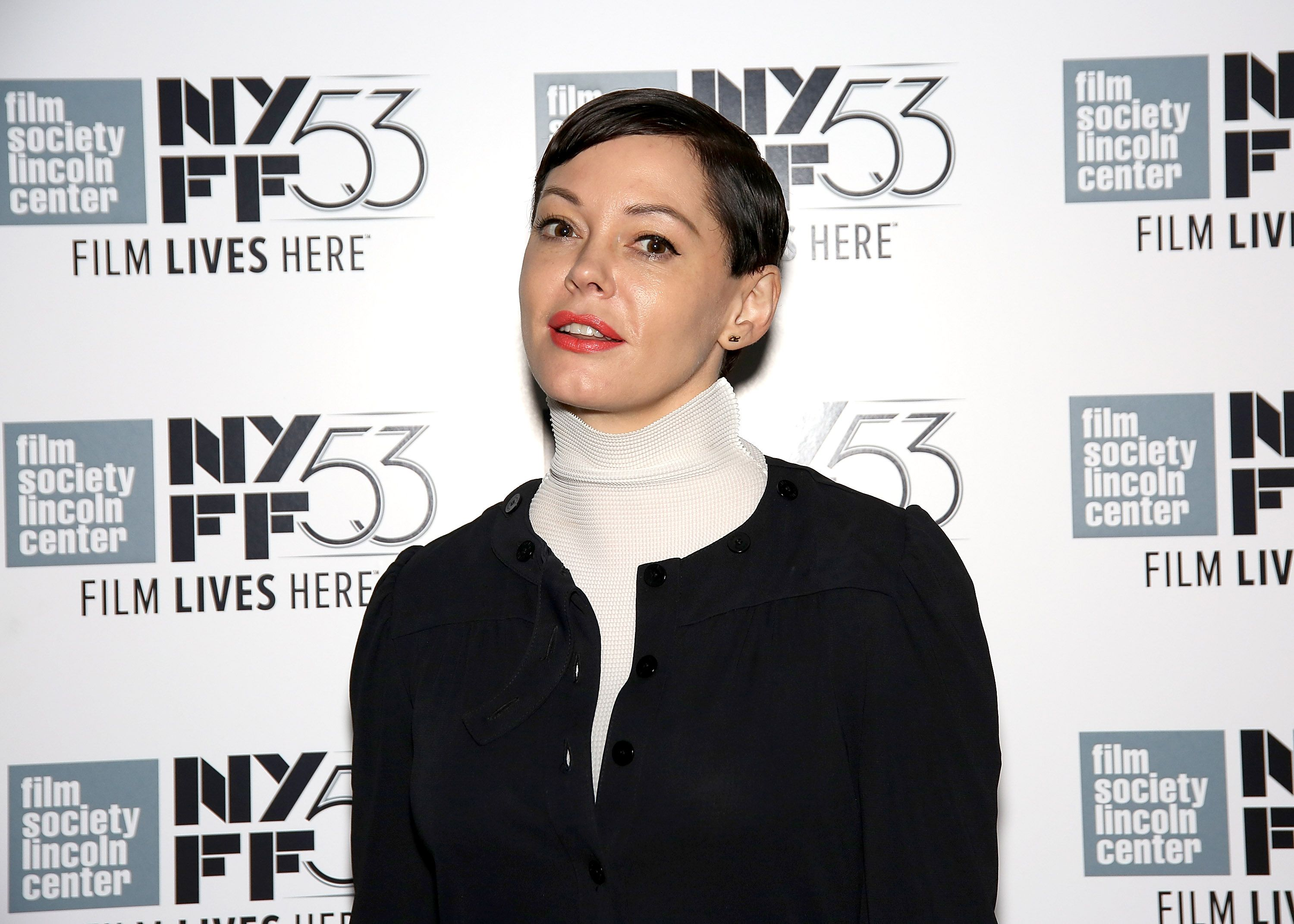 """Rose McGowan at the 53rd New York Film Festival """"NYFF Live"""" on October 4, 2015, in New York City 