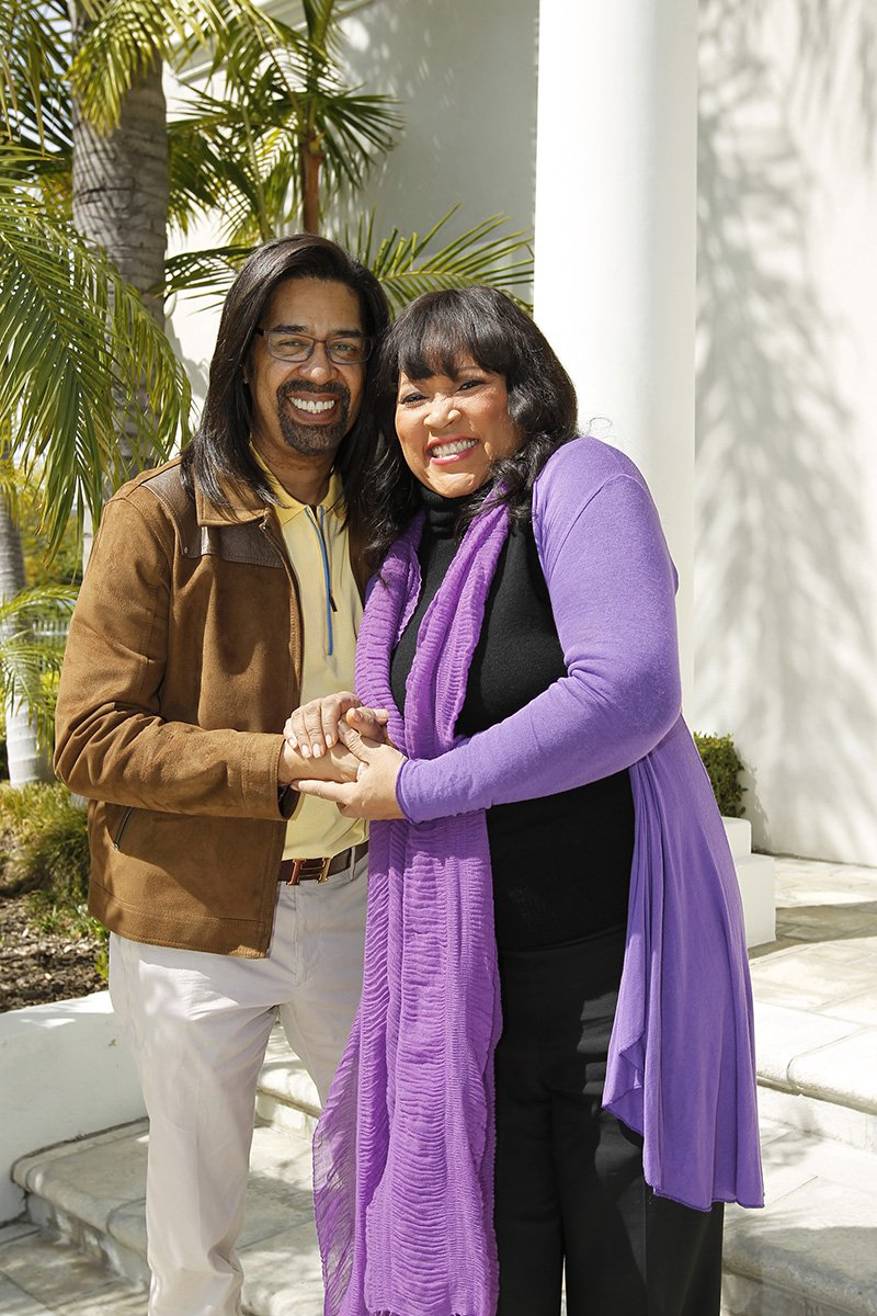 Jackee Harry and her former husband Elgin Charles at their shared home in Los Angeles, California in 2015. I Image: Getty Images.