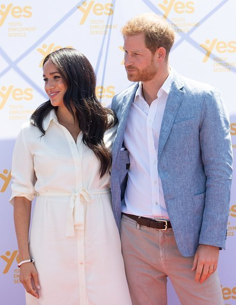 Meghan, Prince Harry at the Tembisa Township to learn about Youth Employment Services on October 02, 2019 | Photo: Getty Images