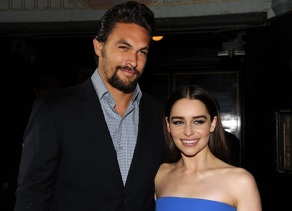 "Jason Momoa and Emilia Clarke arrive at the premiere of HBO's ""Game Of Thrones"" Season 3 at TCL Chinese Theatre in Hollywood, California 