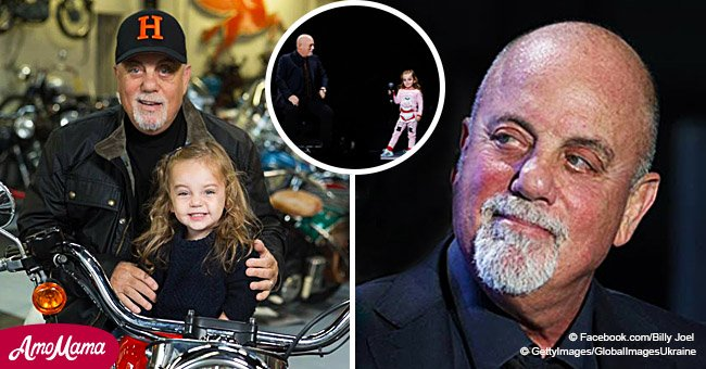 Billy Joel's little daughter steals the spotlight at dad's concert