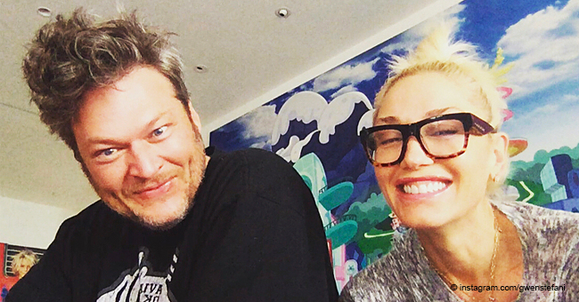 Gwen Stefani Tries to Imagine Hanging out with a Very Young Blake Shelton in Fake Photo