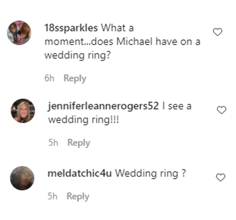 Screenshot showing comments on Michael Strahan's IG post | Source: Instagram/michaelstrahan