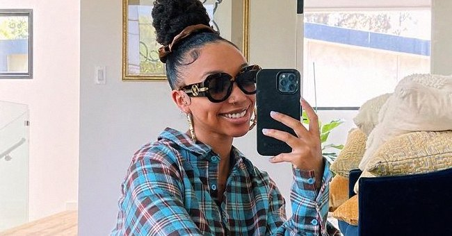 Tiny Harris' Daughter Zonnique Shows Her Leg Tattoo in Shorts Paired with an Off-Shoulder Top