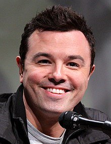 "Seth McFarlane who voices Peter Griffin in ""Family Guy""/ Source: Wikimedia"
