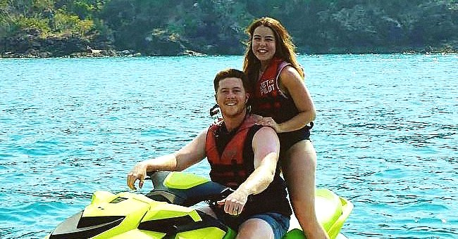 Maddie and Anthony Morris on a ski boat together.   Source: instagram.com/anthony_morris__