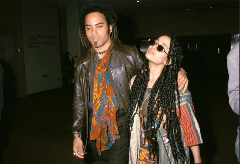 Lenny Kravitz and Lisa Bonet in NYC 1987 | Photo: Getty Images