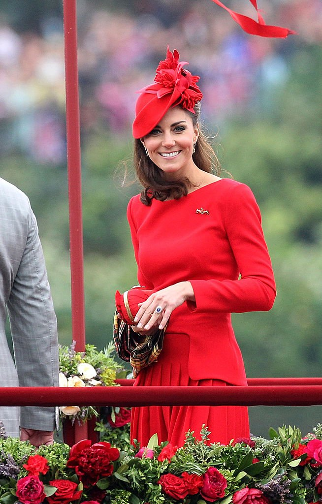 Catherine, Duchess of Cambridge takes part in The Thames River Pageant on June 3, 2012 in London, England | Photo: Getty Images
