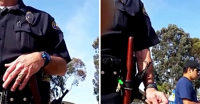 Police officer standing in front of a camera. │ Source: youtube.com/JOOGSQUAD PPJT 2
