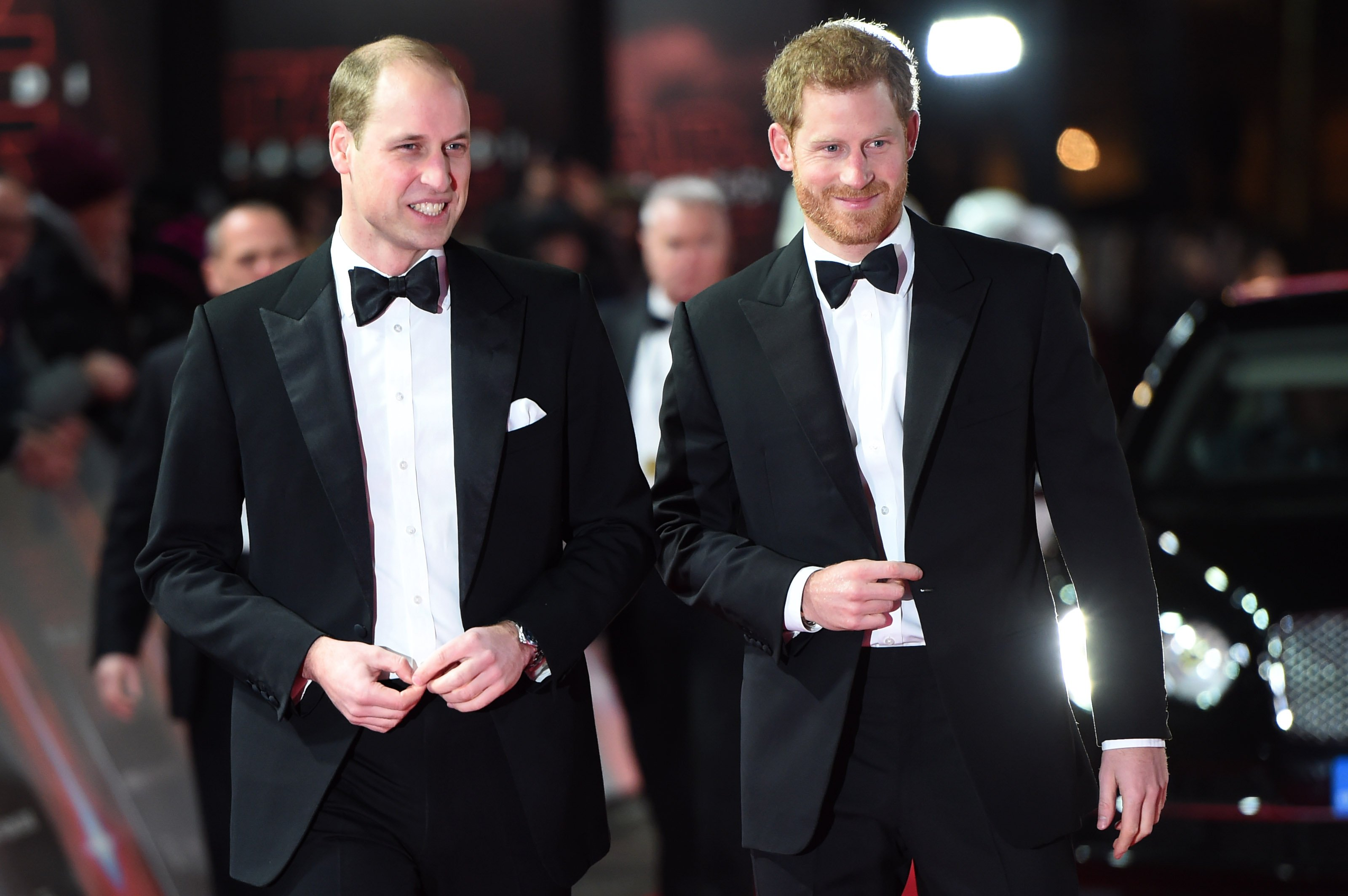 Prince William and Prince harry pictured at the European Premiere of 'Star Wars: The Last Jedi' at Royal Albert Hall, 2017, England. | Photo: Getty Images