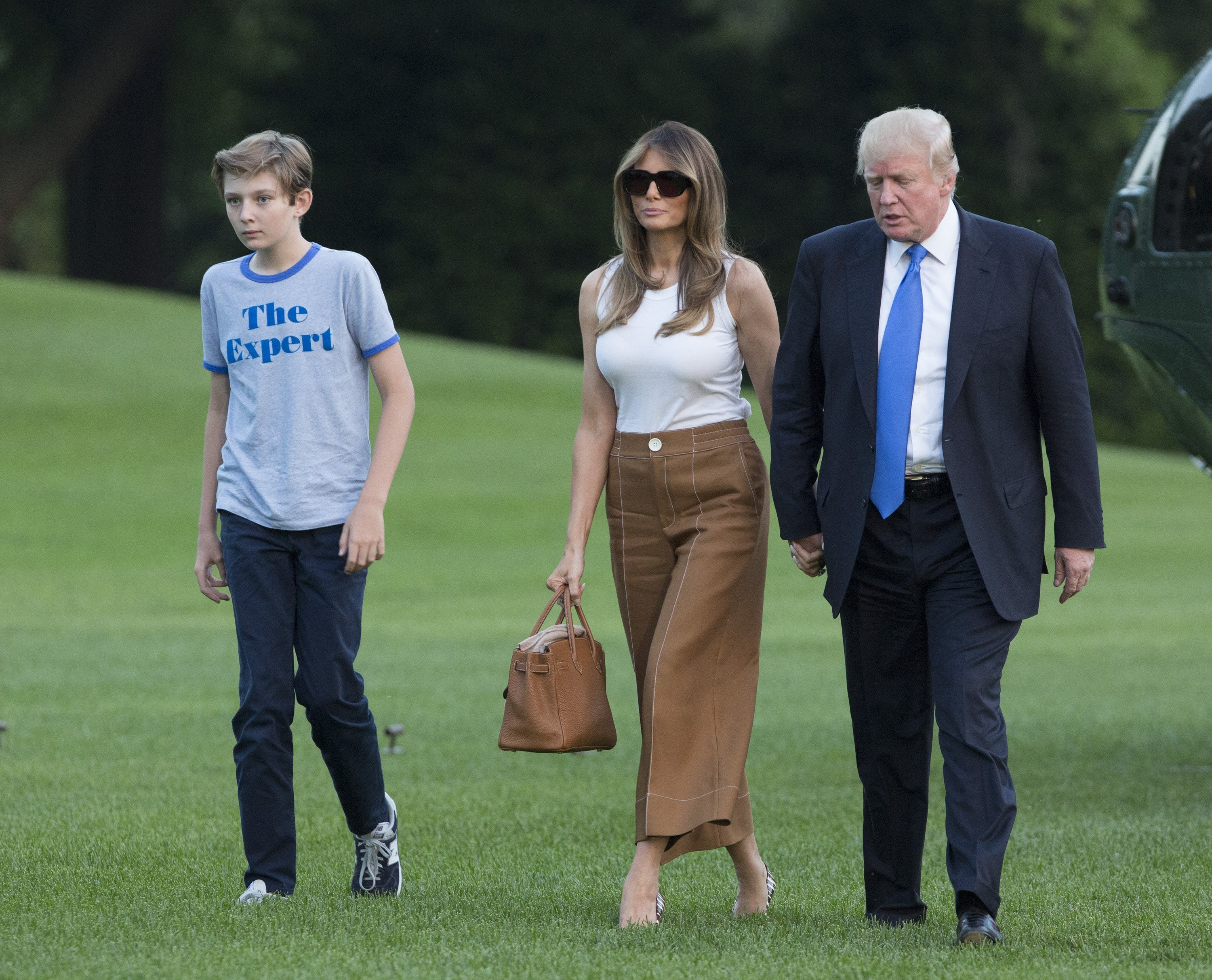 Donald, Melania, and Barron Trump move into the White House in Washington, DC | Photo: Getty Images