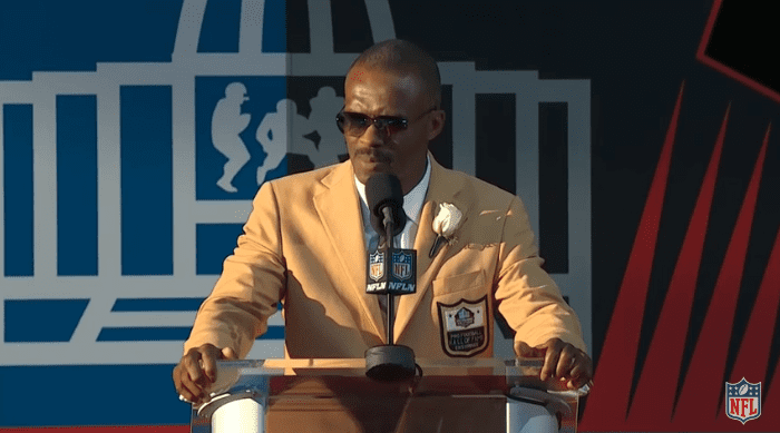 Marvin Harrison delivers his Hall of Fame Speech   2016 Pro Football Hall of Fame, August, 2016   Source: YouTube/NFL