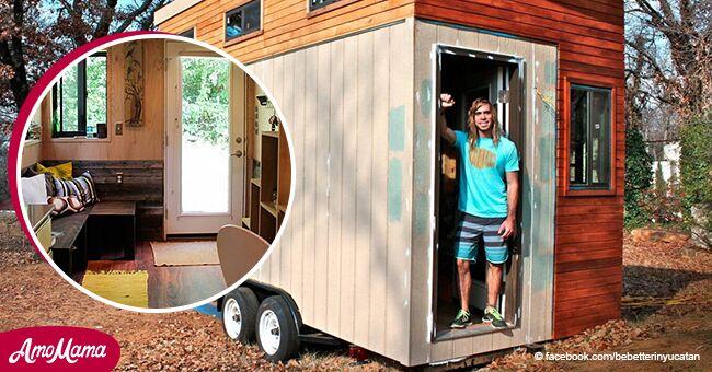 Estudiante que no podía pagar la renta construyó una increíble casa pequeña y se graduó sin deuda