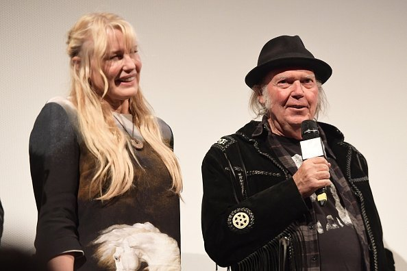 "Daryl Hannah and Neil Young attend the ""Paradox"" Premiere 2018 SXSW Conference and Festivals at Paramount Theatre on March 15, 2018, in Austin, Texas. 