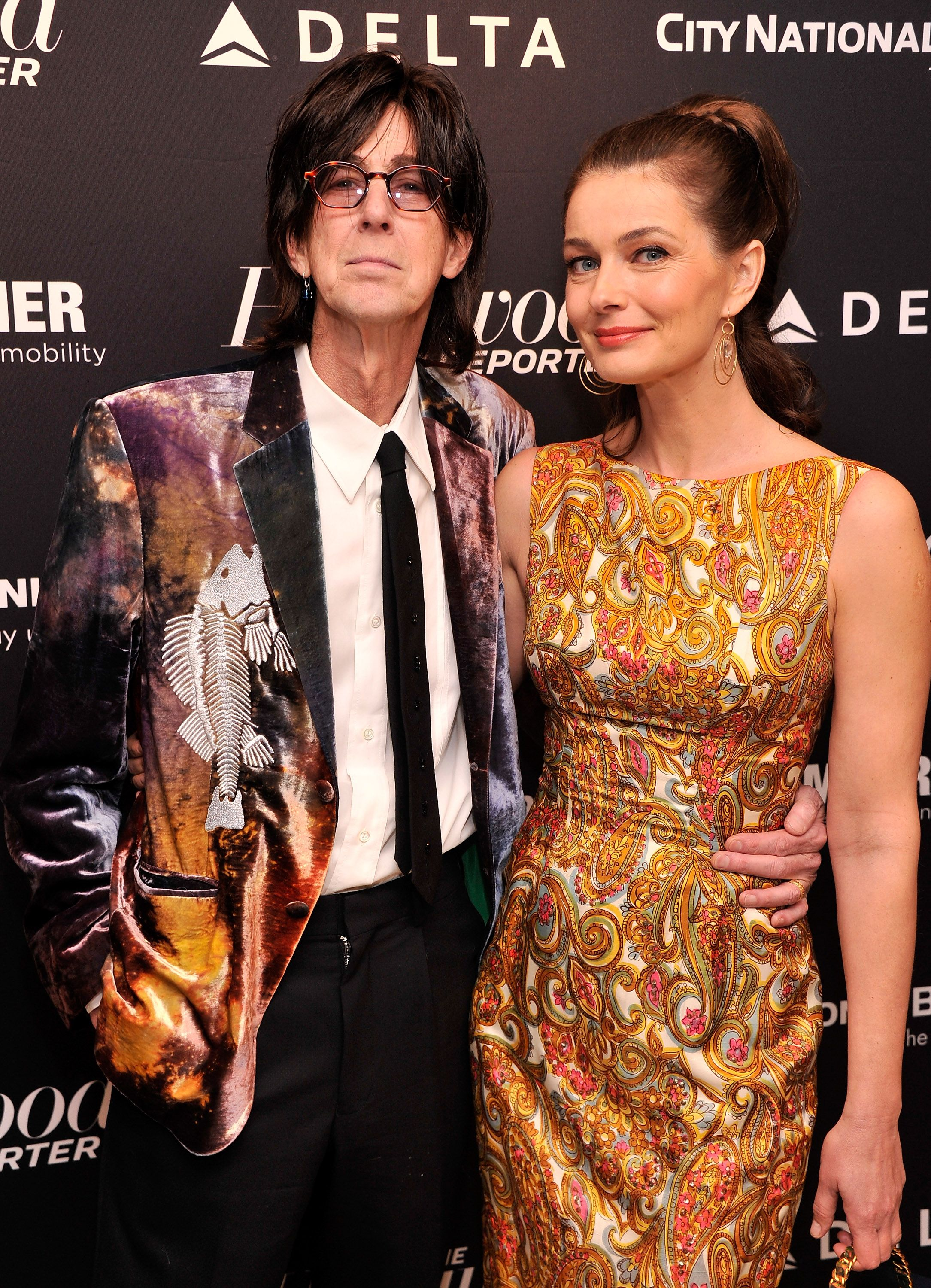 Singer/musician Ric Ocasek and model Paulina Poriskova at the Hollywood Reporters 35 Most Powerful People In Media at Four Seasons Grill Room on April 10, 2013 | Photo: Getty Images