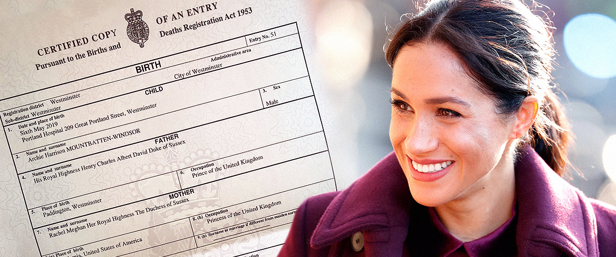 Meghan Markle's Official Occupation Revealed in Baby Archie's Birth Certificate