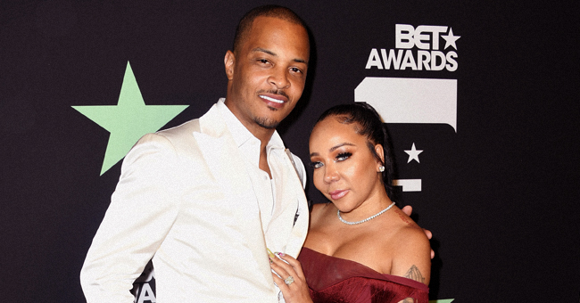 Tiny Stuns in Red Fringe Dress as She & T.I. Head to BET Awards in Helicopter