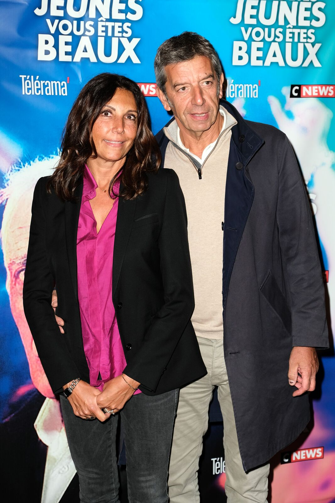 Michel Cymes et son épouse Nathalie Cymes le 23 septembre 2019 à Paris, France. | Photo : Getty Images.