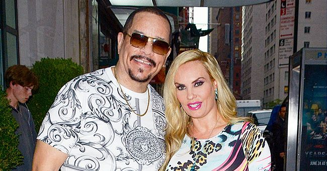 Ice-T's Wife Coco Austin and Their Daughter Pose in Floral Dresses with Matching Purses