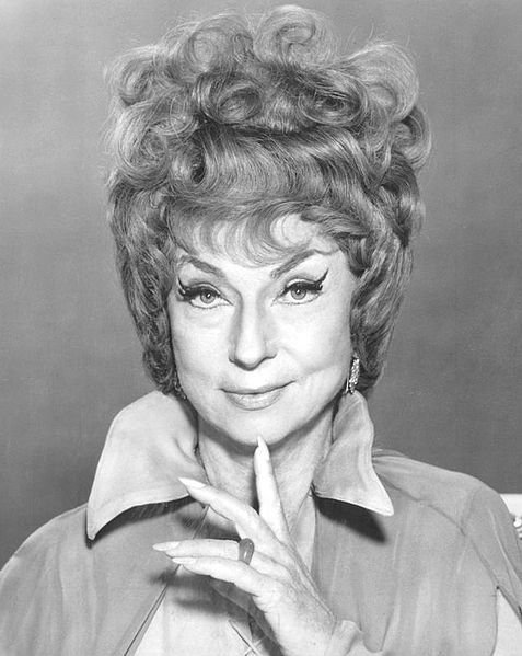 "Agnes Moorehead as Endora from the television program ""Bewitched."""