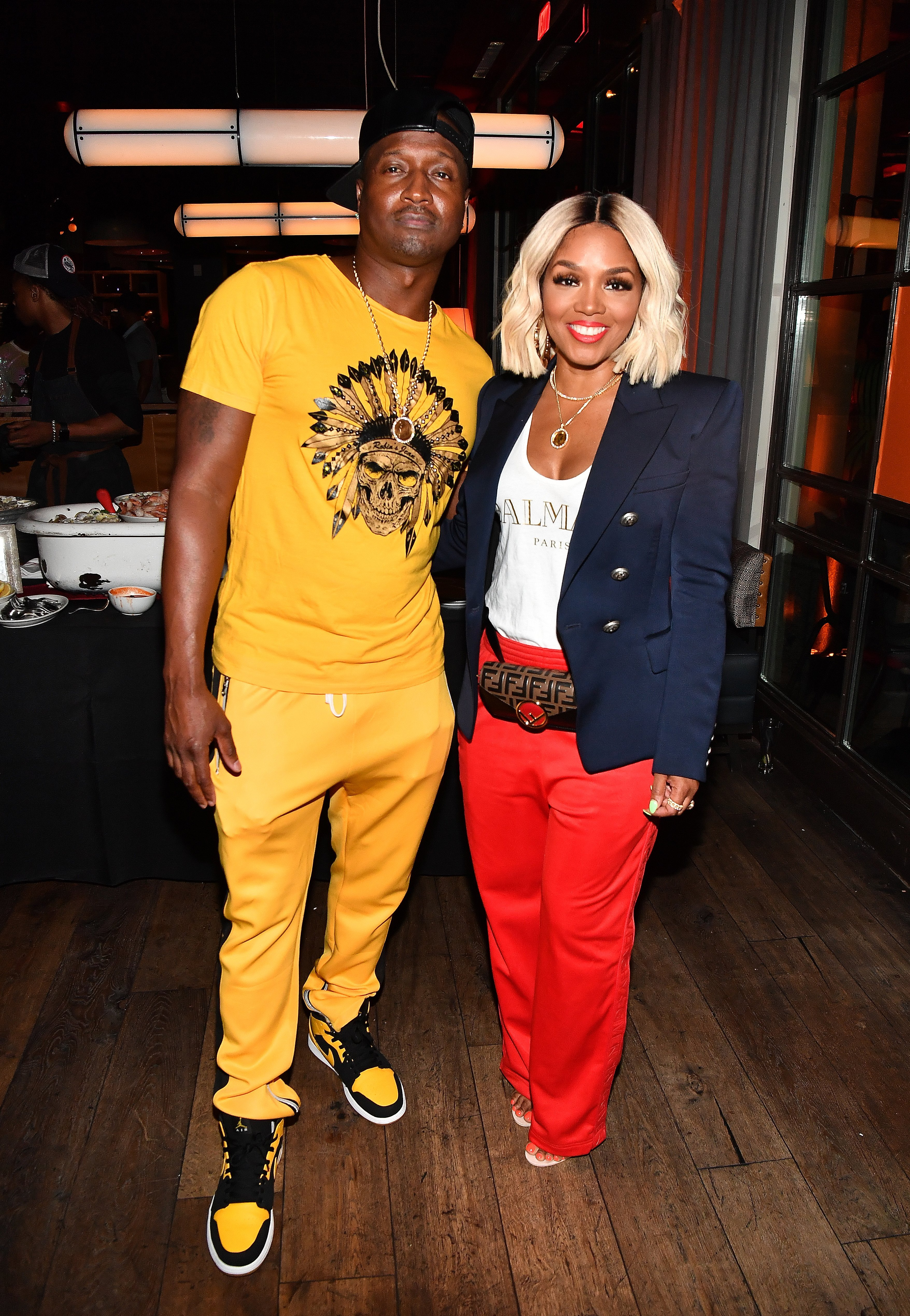 "Kirk Frost and Rasheeda attend ""The Bonfyre"" Listening Session & Dinner on August 17, 2018 
