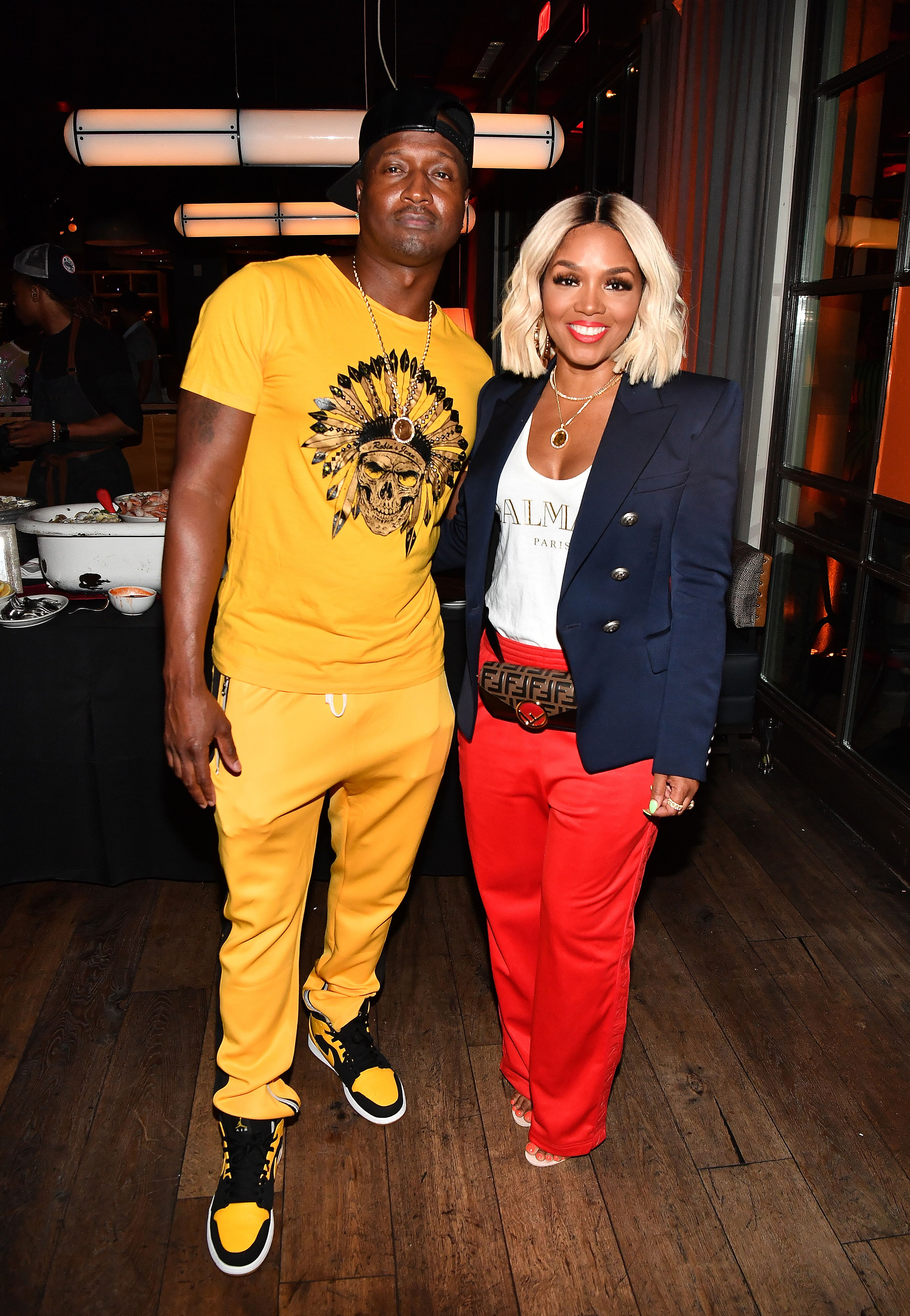 "Kirk Frost and Rasheeda attend ""The Bonfyre"" Listening Session & Dinner presented by Hitco at King + Duke Restaurant  