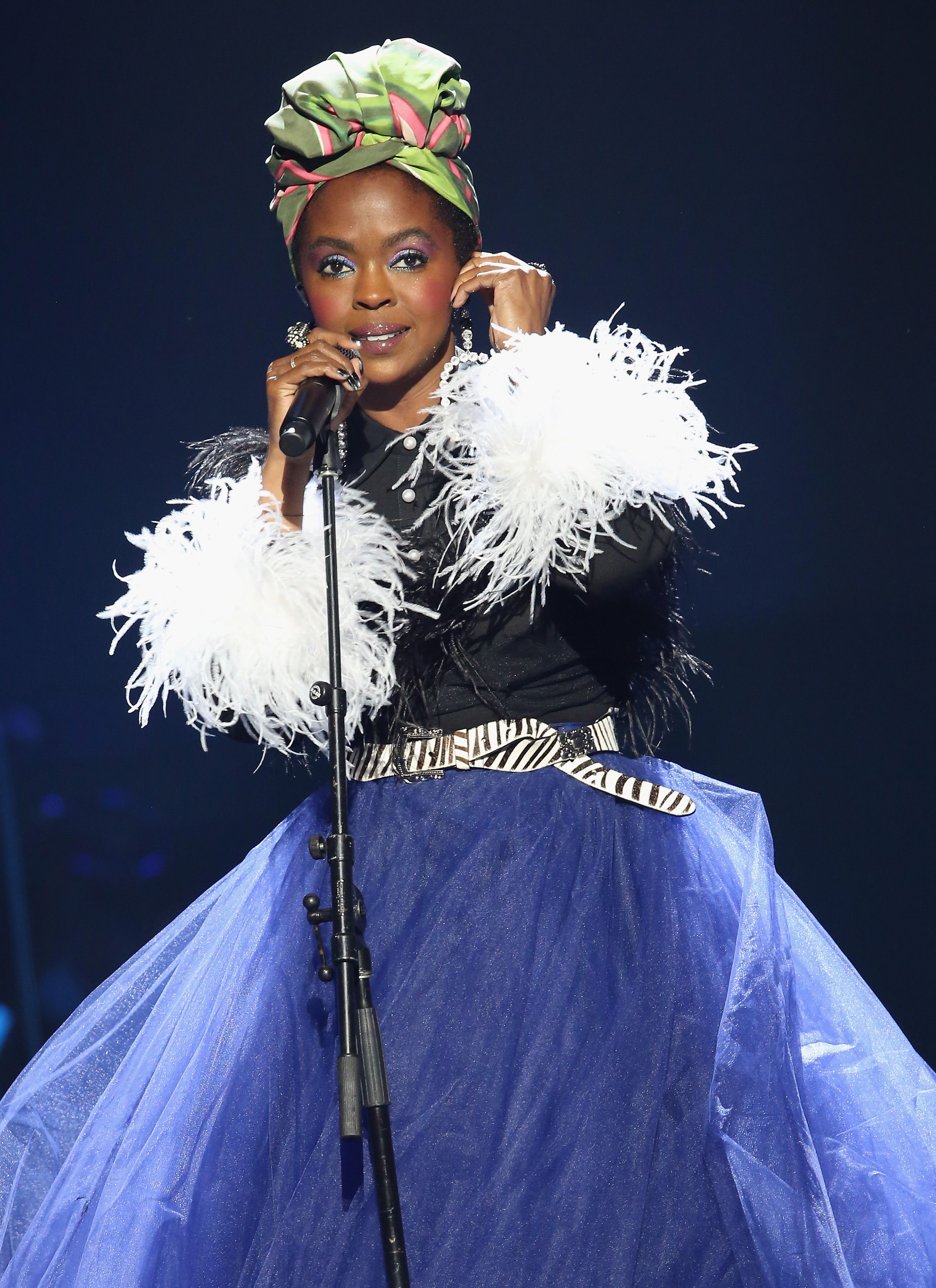 Rap icon Lauryn Hill paying tribute to Nina Simone at the 33rd Annual Rock & Roll Hall of Fame induction ceremony in April 2018. | Photo: Getty Images