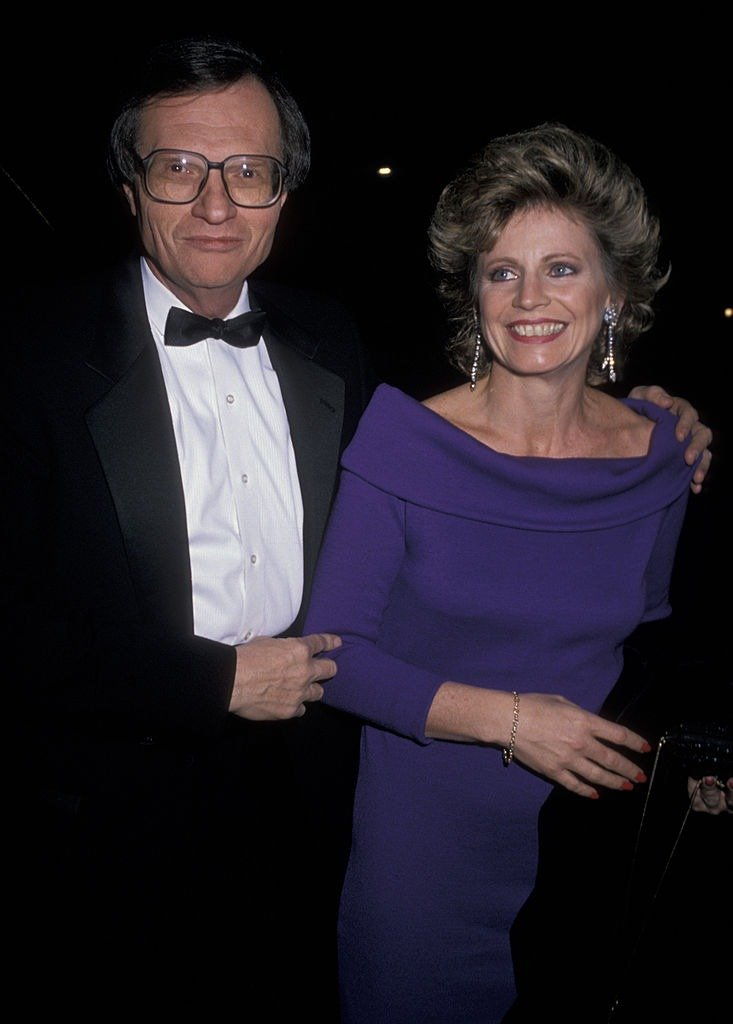 Larry King and Sharon Lepore at Academy of Music's Norman Pattiz Concert Hall Dedication on Feb 21, 1989  | Photo: Getty Images