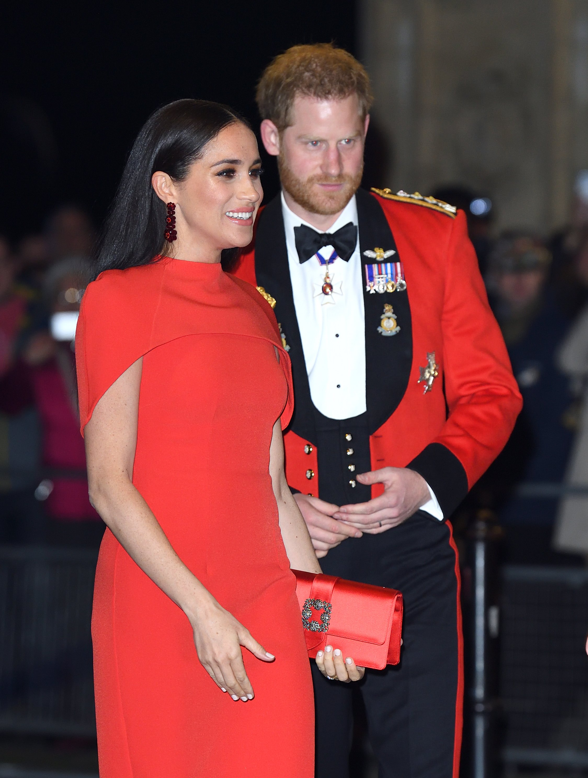 """The Duke and Duchess of Sussex at """"The Mountbatten Music Festival"""" in London, March, 2020. 