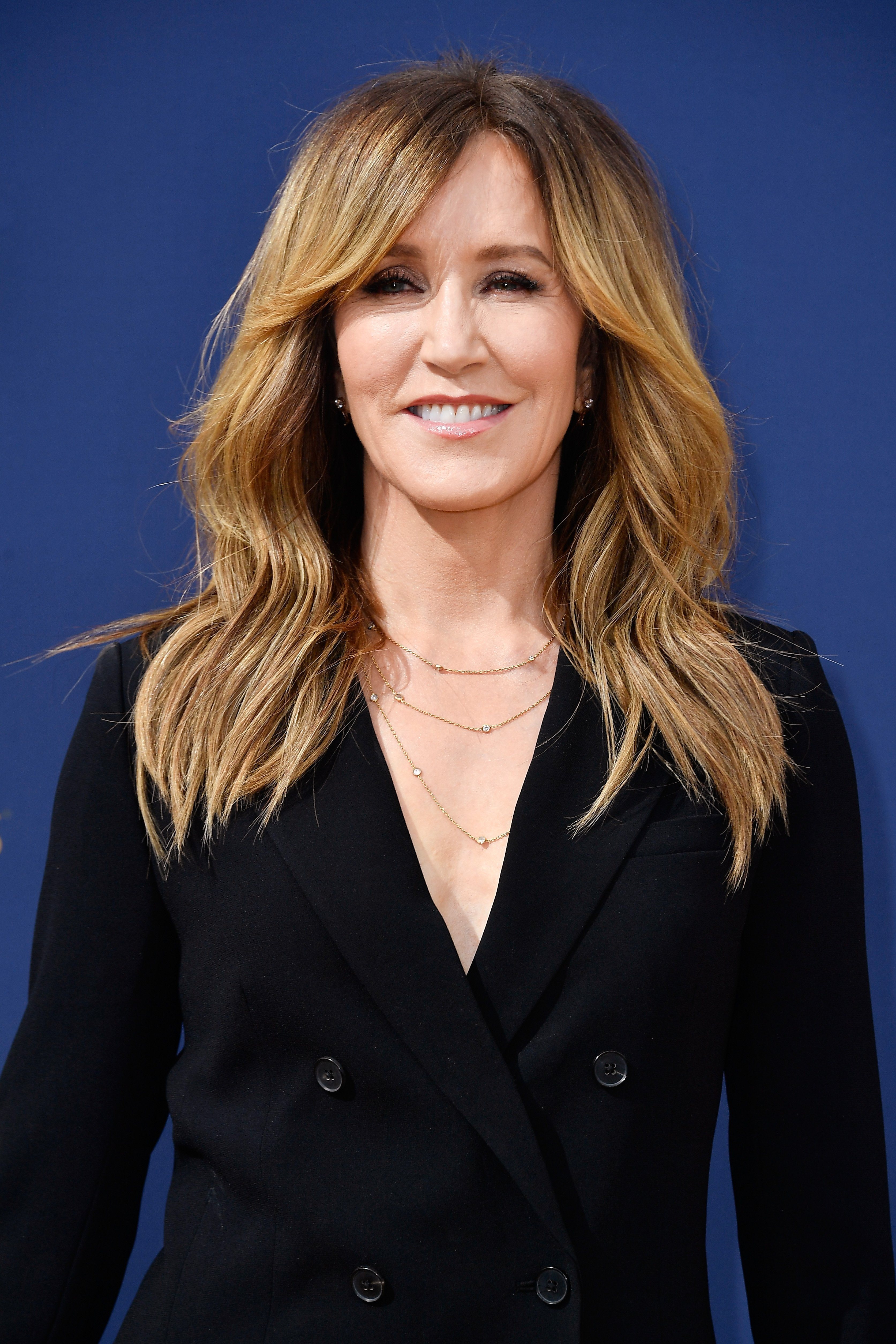 Felicity Huffman 55, at the 2018 Emmy Awards Red Carpet | Photo: Getty Images