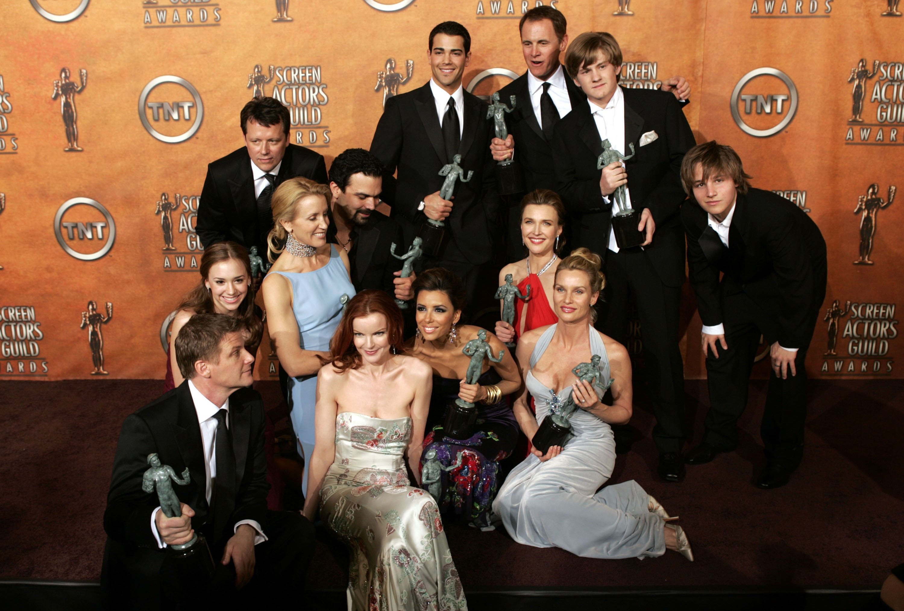 """The cast of """"Desperate Housewives"""" poses with their SAG Awards at the 11th Annual SAG Awards, 2005 