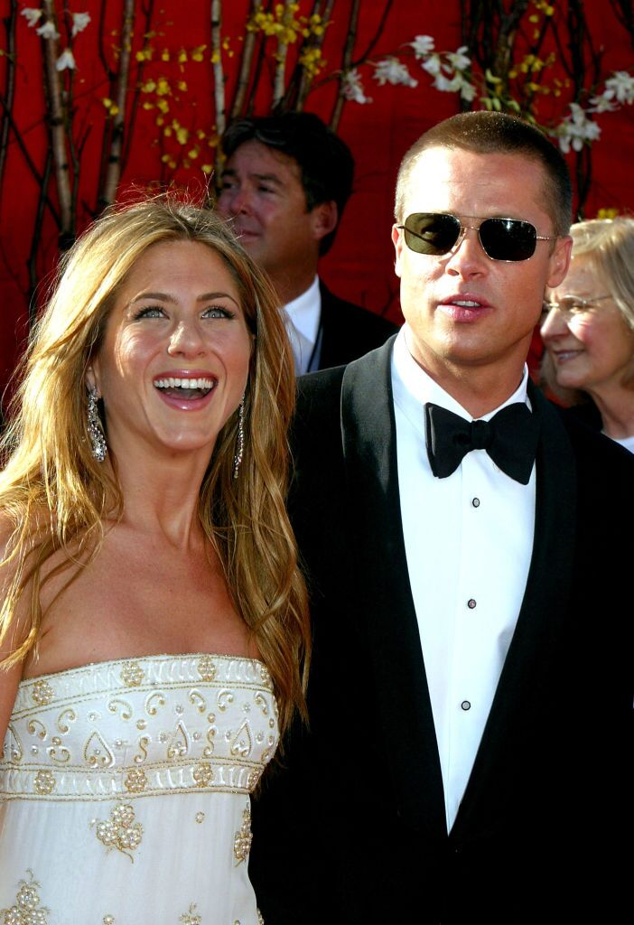 Actress Jennifer Aniston and Actor/husband Brad Pitt attend the 56th Annual Primetime Emmy Awards. | Source: Getty Images
