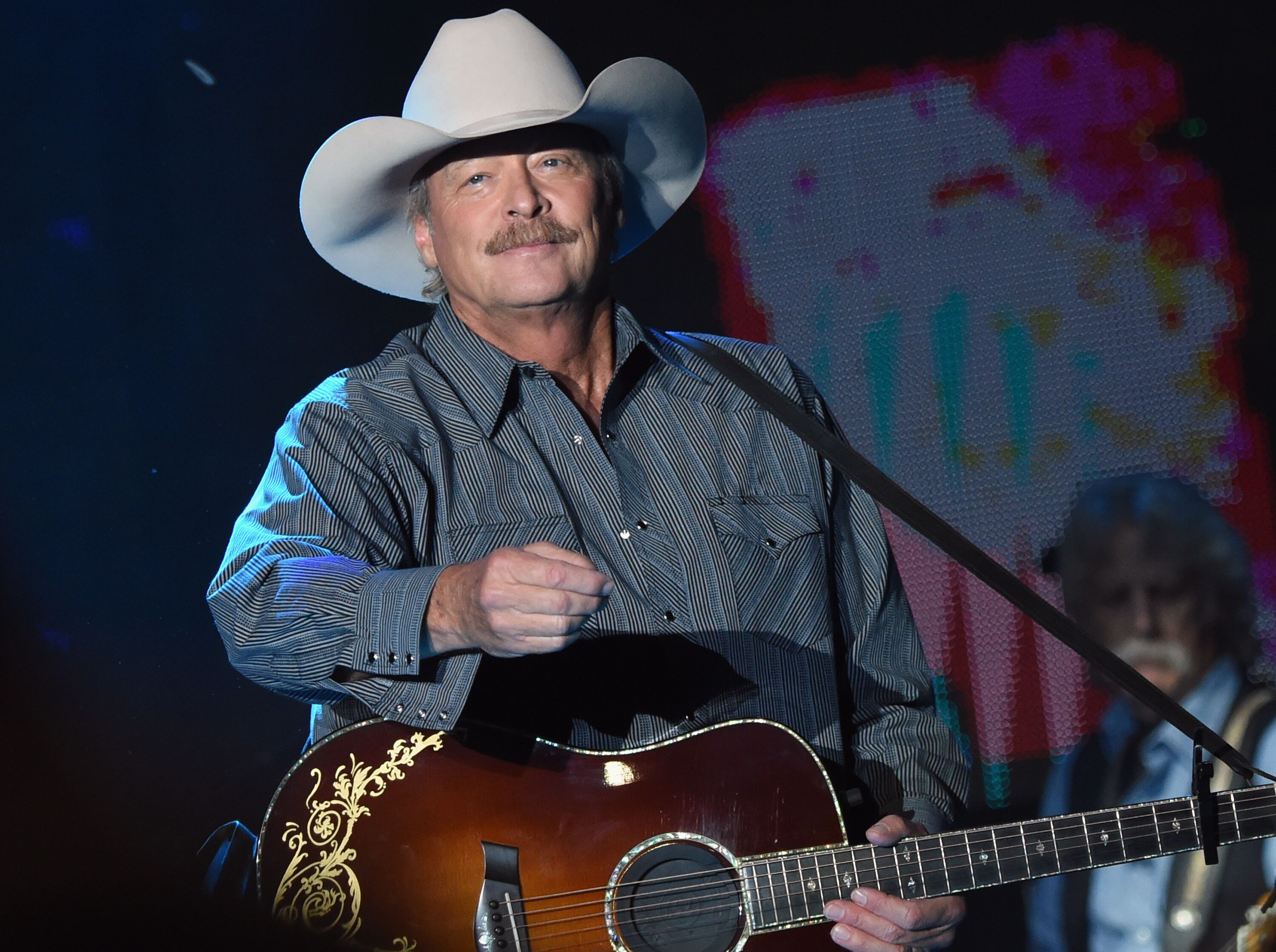 Alan Jackson performs at Tree Town Music Festival - Day 3 on May 27, 2017 in Heritage Park, Forest City, Iowa. | Source: Getty Images