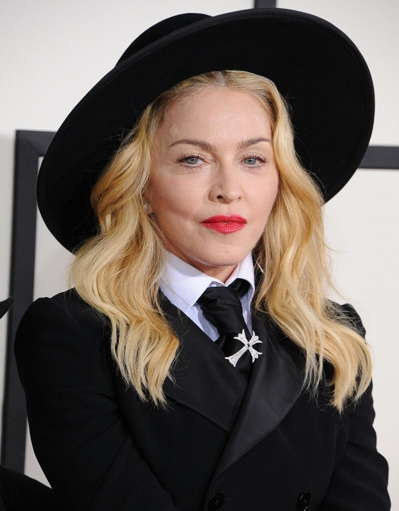 Madonna arrivals at the 56th GRAMMY Awards on January 26, 2014 in Los Angeles, California | Photo: Getty Images