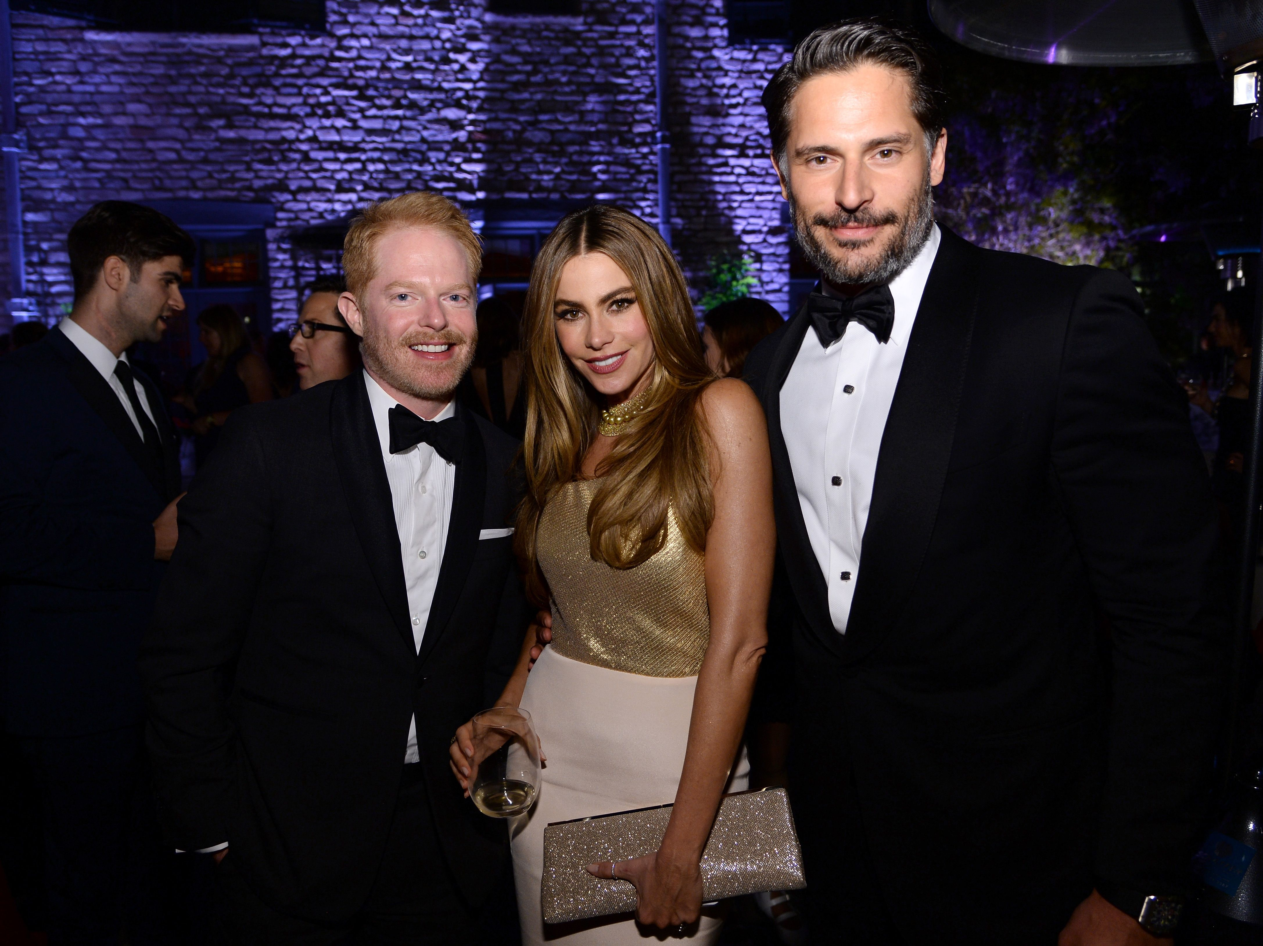 Jesse Tyler Ferguson, Sofia Vergara and Joe Manganiello at the Bloomberg & Vanity Fair cocktail reception in May 2014 in Washington, DC | Source: Getty Images