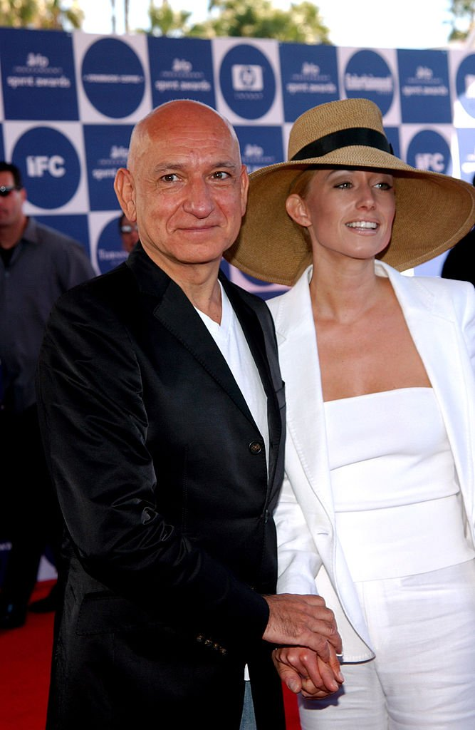 Sir Ben Kingsley and Lady Alexander Christmann during 2004 Independent Spirit Awards in Santa Monica, California | Photo: Getty Images