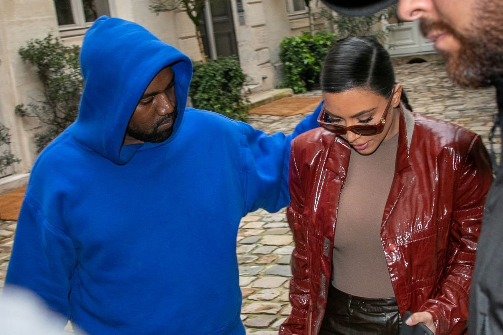 Kim Kardashian West and Kanye West during Paris Fashion Week, March 2020   Source: Getty Images