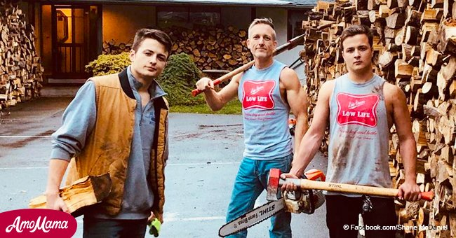 Father and sons chop wood and deliver 80 trucks full to those who need heat
