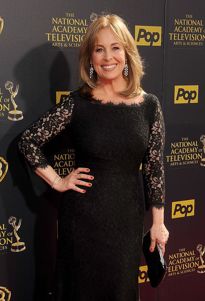 Genie Francis arrives at the 42nd Annual Daytime Emmy Awards at Warner Bros. Studios on April 26, 2015 | Photo: Getty Images